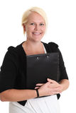 Attractive businesswoman with clipboard Stock Image