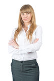 Attractive businesswoman with crossed arms Royalty Free Stock Photography