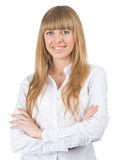 Attractive businesswoman with crossed arms Stock Photo