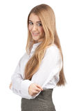 Attractive businesswoman with crossed arms Stock Photos