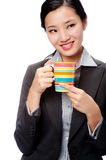 An attractive businesswoman with cup Stock Photography
