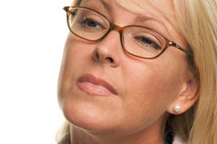 Attractive Businesswoman with Eyeglasses Royalty Free Stock Photos