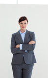 Attractive businesswoman with folded arms Royalty Free Stock Photos