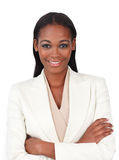 Attractive businesswoman with folded arms Stock Photo