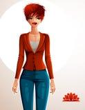 Attractive businesswoman full body portrait. Gorgeous Stock Photo