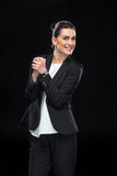 Attractive businesswoman gesturing Royalty Free Stock Images