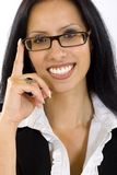 Attractive businesswoman with glasses Royalty Free Stock Images