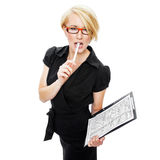 Attractive businesswoman in glasses Royalty Free Stock Photography
