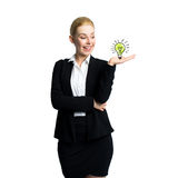 Attractive businesswoman having an idea Royalty Free Stock Image