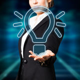 Attractive businesswoman having an idea Royalty Free Stock Images