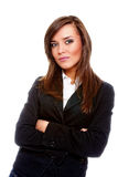Attractive businesswoman with her arms crossed Royalty Free Stock Photography