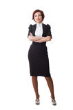 Attractive businesswoman with her arms crossed Royalty Free Stock Image