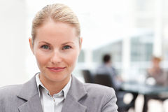 Attractive businesswoman in her office Stock Photo