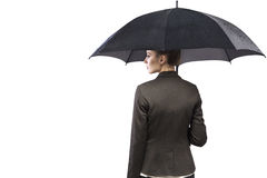 Attractive businesswoman holding an umbrella Stock Photography