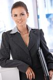Attractive businesswoman with laptop Royalty Free Stock Photos