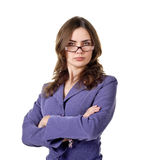 Attractive businesswoman looking at the camera Royalty Free Stock Photos