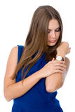 Attractive businesswoman looking at her watch Stock Photography