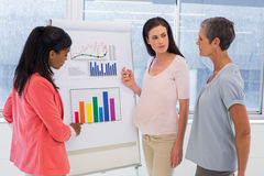 Attractive businesswoman making a presentation at work Royalty Free Stock Photo