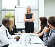 Attractive businesswoman in a meeting Stock Image