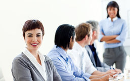 Attractive businesswoman in a meeting Royalty Free Stock Photos