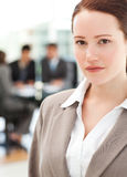 Attractive businesswoman during a meeting Royalty Free Stock Image