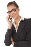 Attractive businesswoman with mobile phone Royalty Free Stock Photography