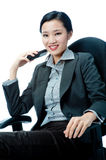 An attractive businesswoman with phone Stock Photos