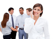 Attractive businesswoman on phone Stock Photos