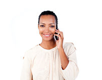 Attractive businesswoman on phone Royalty Free Stock Image