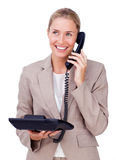 Attractive businesswoman on phone Stock Image