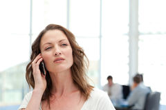 Attractive businesswoman on the phone Royalty Free Stock Photography