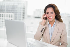 Attractive businesswoman on the phone Stock Photos