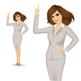 Attractive businesswoman pointing up Royalty Free Stock Image