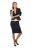 Attractive businesswoman pointing at viewer Royalty Free Stock Photography