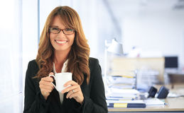 Attractive businesswoman portrait Stock Photos