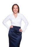 Attractive businesswoman posing Stock Photo