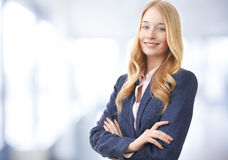 Attractive businesswoman smiling Royalty Free Stock Photo