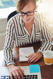 Attractive businesswoman with a start-up business Royalty Free Stock Photos