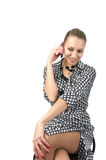 Attractive businesswoman talking mobile phone Royalty Free Stock Photos