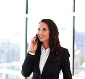 Attractive businesswoman talking on phone Stock Photography
