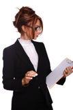 Attractive businesswoman/teacher/secretary Stock Image