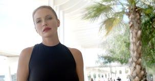 Attractive Businesswoman in Urban Scene stock video footage