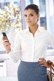 Attractive businesswoman using mobile phone Stock Images