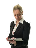 Attractive businesswoman using tablet computer Royalty Free Stock Photography