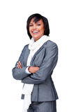 Attractive businesswoman wearing a white scarf Royalty Free Stock Photos