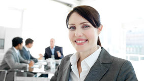 Attractive businesswoman in a wheelchair Stock Image