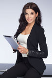 Attractive businesswoman at work. Royalty Free Stock Photo