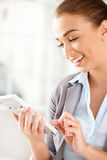 Attractive businesswoman working from home Royalty Free Stock Image