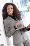 Attractive businesswoman working on laptop Royalty Free Stock Image