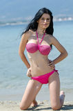 Attractive busty woman in bikini Stock Photo
